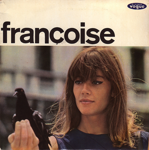 love this picture of Fran  231 oise Hardy    her hair and makeup look    Francoise Hardy Makeup