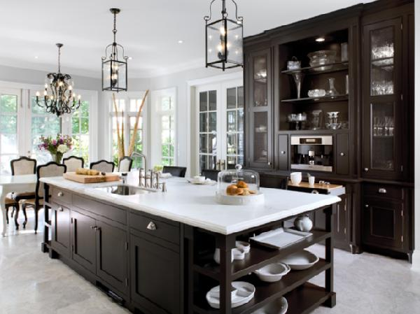 Outstanding White Kitchen Cabinets with Dark Island 600 x 449 · 41 kB · jpeg