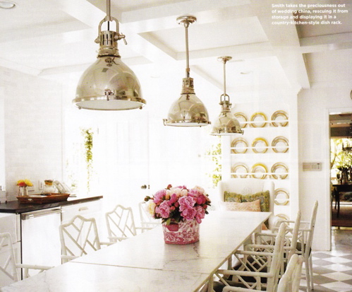 White marble dining room table